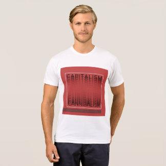 Camiseta T-shirt tipográfico - capitalismo - Canibalism