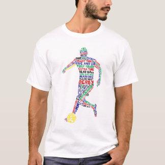 Camiseta T-shirt tipográfico do jogador de futebol