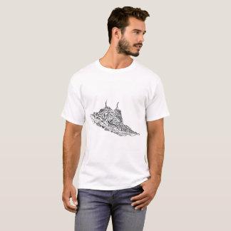 Camiseta T-shirt tirado costume do impressão