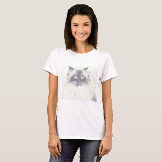 Camiseta T-shirt tirado mão do amante do gato
