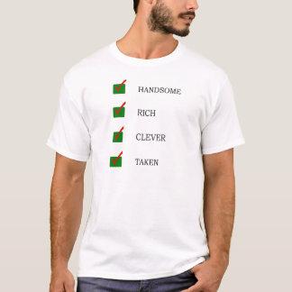 Camiseta T-shirt tomado considerável, rico, inteligente do