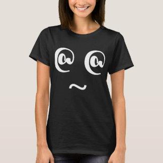 Camiseta T-shirt tonto parvo louco do preto da cara