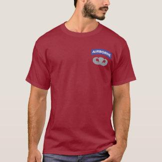 Camiseta T-shirt transportados por via aérea do Parachutist