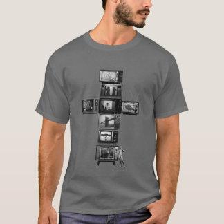 Camiseta T-shirt transversal dos homens das televisões
