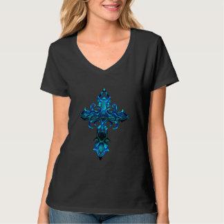 Camiseta T-shirt transversal medieval azul II