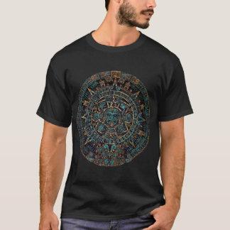Camiseta T-shirt tribal asteca dos homens do calendário do