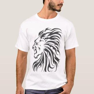 Camiseta t-shirt tribal da leão-cabeça