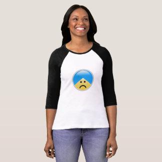 Camiseta T-shirt triste americano de Emoji do turbante do