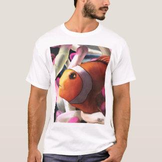 Camiseta T-shirt tropical alaranjado dos peixes