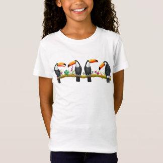 Camiseta T-shirt tropical da malha do jérsei dos miúdos dos