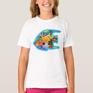 Camiseta T-shirt tropical do grupo dos peixes