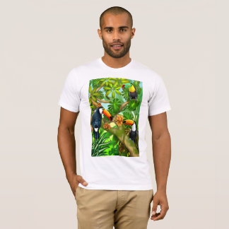 Camiseta T-shirt tropical dos pássaros de Toco Toucan