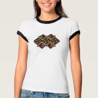 Camiseta T-shirt ucraniano detalhado do estilo do bordado