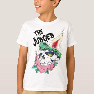 Camiseta t-shirt unisex dos miúdos da vela do crânio