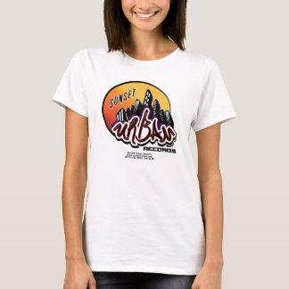 Camiseta T-shirt urbano do bebê das senhoras do por do sol