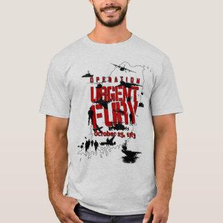 Camiseta T-shirt urgente da ação da fúria da operação