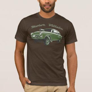 Camiseta T-shirt velho do carro de corridas do hot rod de