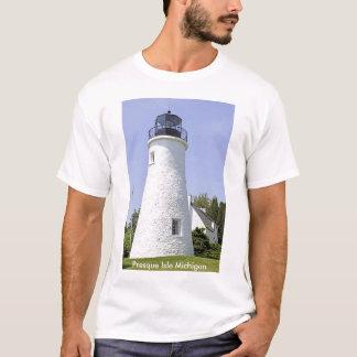 Camiseta T-shirt velho do farol da ilha de Presque