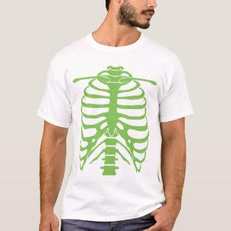 Camiseta t-shirt verde de néon do ribcage
