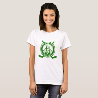 Camiseta T-shirt verde do logotipo