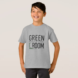 Camiseta T-shirt verde do pianista da sala dos meninos para