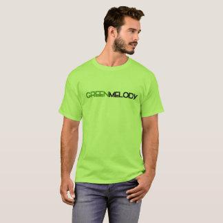 Camiseta T-shirt verde do promocional da melodia