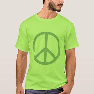 Camiseta T-shirt verde do símbolo de paz
