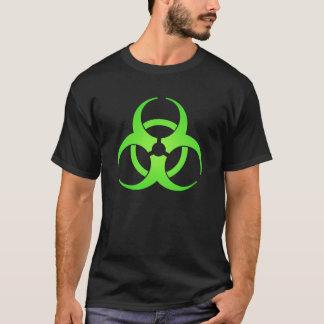 Camiseta T-shirt verde do símbolo do Biohazard