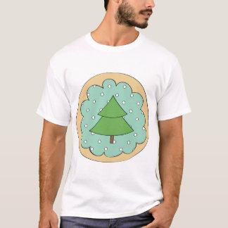 Camiseta T-shirt verde dos homens da árvore