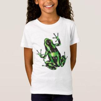 Camiseta T-shirt verde e preto do sapo do dardo do veneno