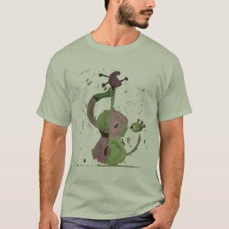 Camiseta t-shirt verde e roxo da guitarra
