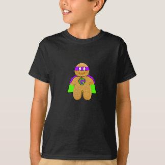 Camiseta t-shirt verde/roxo do super-herói do homem de