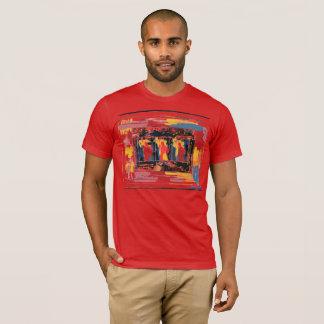 """Camiseta T-shirt vermelho colorido da """"estátua da liberdade"""