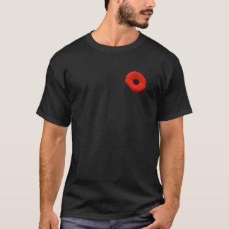 Camiseta T-shirt vermelho da flor da papoila do dia da