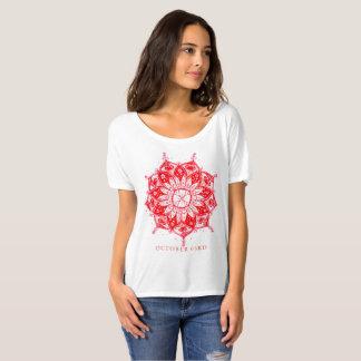 Camiseta T-shirt vermelho da mandala