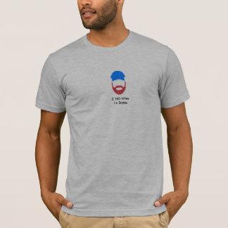 Camiseta T-shirt vermelho de seguimento do oficial da barba