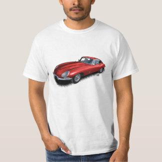 Camiseta T-shirt vermelho do carro de esportes do vintage