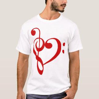 Camiseta T-shirt (vermelho) do coração do triplo e dos