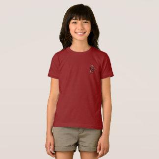 Camiseta T-shirt vermelho do jérsei das meninas do arando