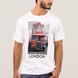 Camiseta T-shirt vermelho matizado vermelho do ônibus de