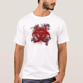 Camiseta T-shirt vermelho superior do Biohazard