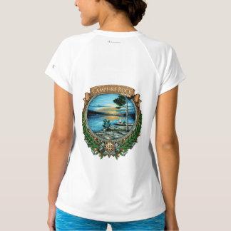 Camiseta T-shirt virtual da raça da rocha da fogueira,