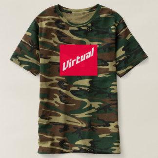 Camiseta T-shirt virtual de Camo do logotipo de |