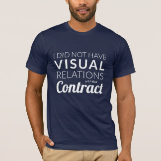 Camiseta T-shirt visual das relações