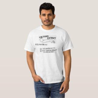 Camiseta T-shirt visual do logotipo da intoxicação de TAE