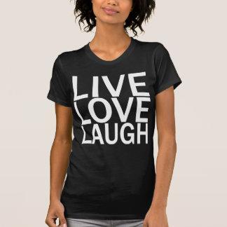 Camiseta T-shirt vivo do preto do riso do amor