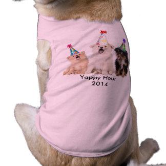 Camiseta T-shirt Yappy do cachorrinho da menina da hora