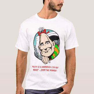 "Camiseta T-shirt Zippy da ""realidade"""