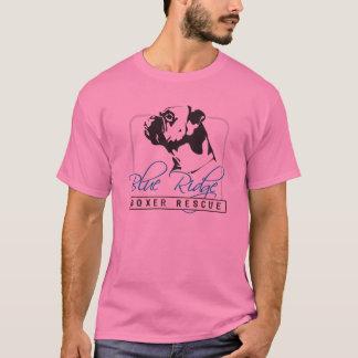 Camiseta T-shrit azul do salvamento do pugilista de Ridge