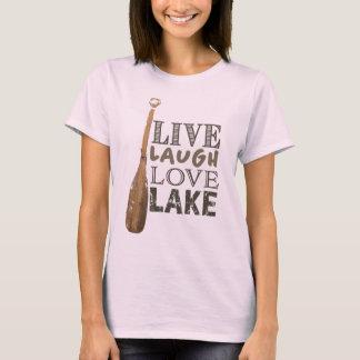 Camiseta T simples da vida do lago